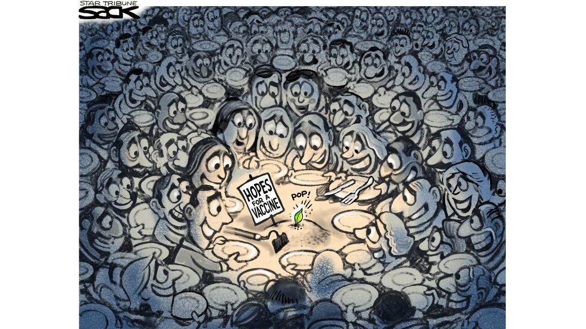 Vaccines and social media cartoon