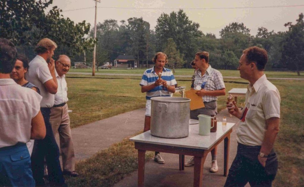 A gathering of minds and icecream cones, 1984