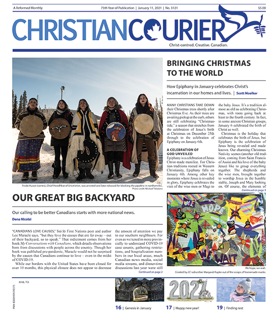 Cover page of January 11 2021 newsletter