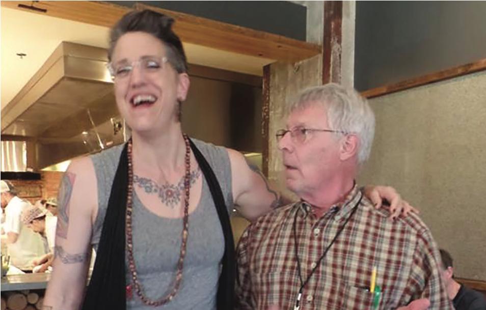 Nadia Bolz-Weber meeting Jim Dekker in 2016.