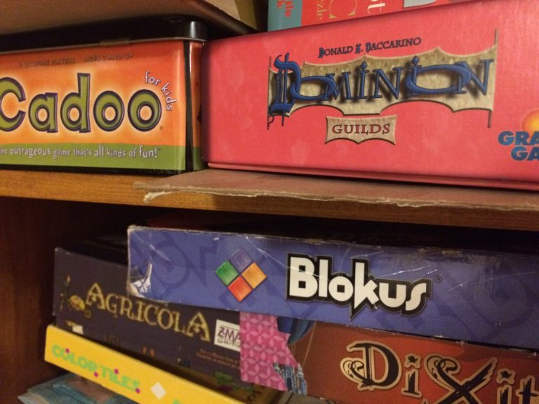Board game 'shelfies' and learning that more can be less